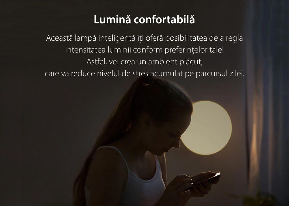 Lampa inteligenta LED pentru tavan, Yeelight YLXD12YL, Alb, Bluetooth, Wi-Fi, Comanda vocala, Rezistenta la praf IP60, Telecomanda inclusa