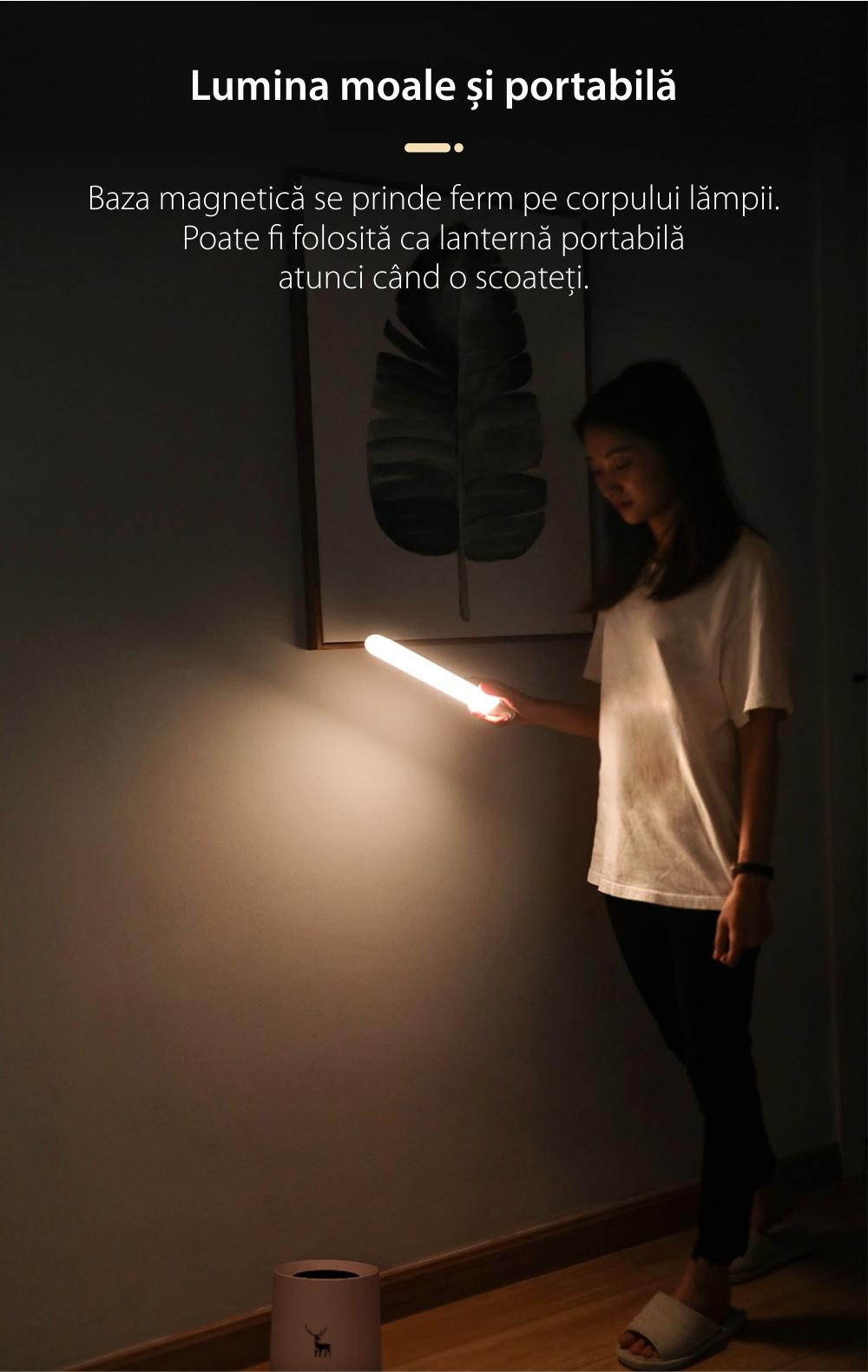 Lampa LED Baseus Sunshine, DGSUN-YB02, Alb, Senzori de miscare, 1W, Baterie 800 mAh