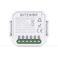 Comutator smart BlitzWolf BW-SS5, 2 Canale, Wi-Fi, Distanta operare 100 m, 2300 W