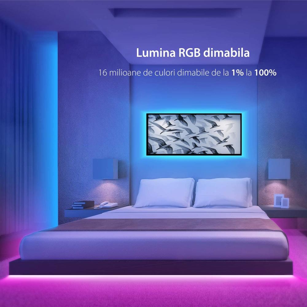Kit Banda LED Smart NiteBird SL2, Wi-Fi, 5 Metri, Control prin aplicatie, Control vocal
