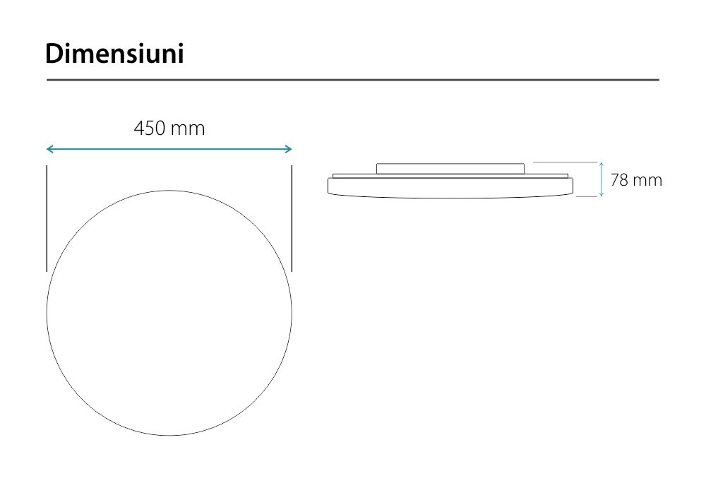 Plafoniera LED Yeelight Galaxy YLXD16YL, Wireless, Bluetooth 4.2, 2200 Lm, Control aplicatie