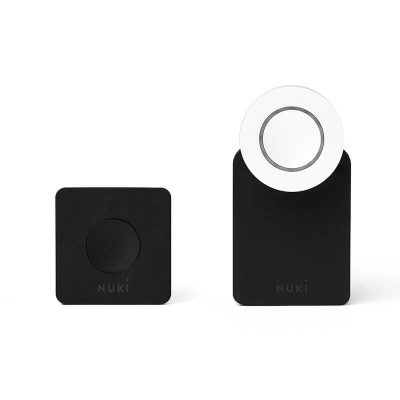 Pachet Nuki Combo 2.0, Include Nuki Smart Lock si Nuki Bridge, Control de la distanta prin aplicatie