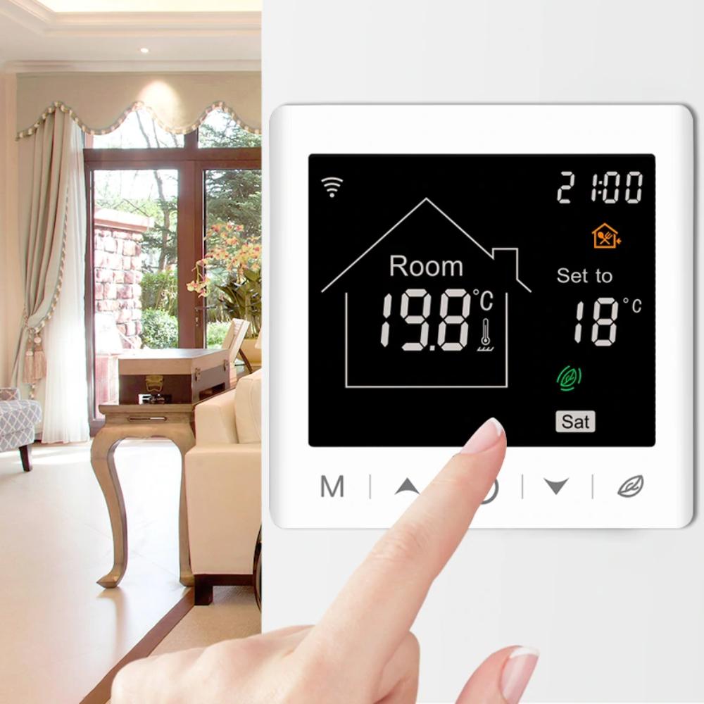 Termostat Wi-Fi BeOk pentru centrala termica pe gaz si incalzire in pardoseala