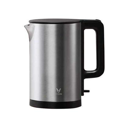 Fierbator de apa Xiaomi Viomi Kettle, Capacitate 1.5 L, Putere 1800 W, Otel inoxidabil culoare neagra