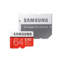 Card de memorie Samsung EVO Plus 64 GB MB-MC64HA + Adaptor SD, Memorie interna de tip USH-I