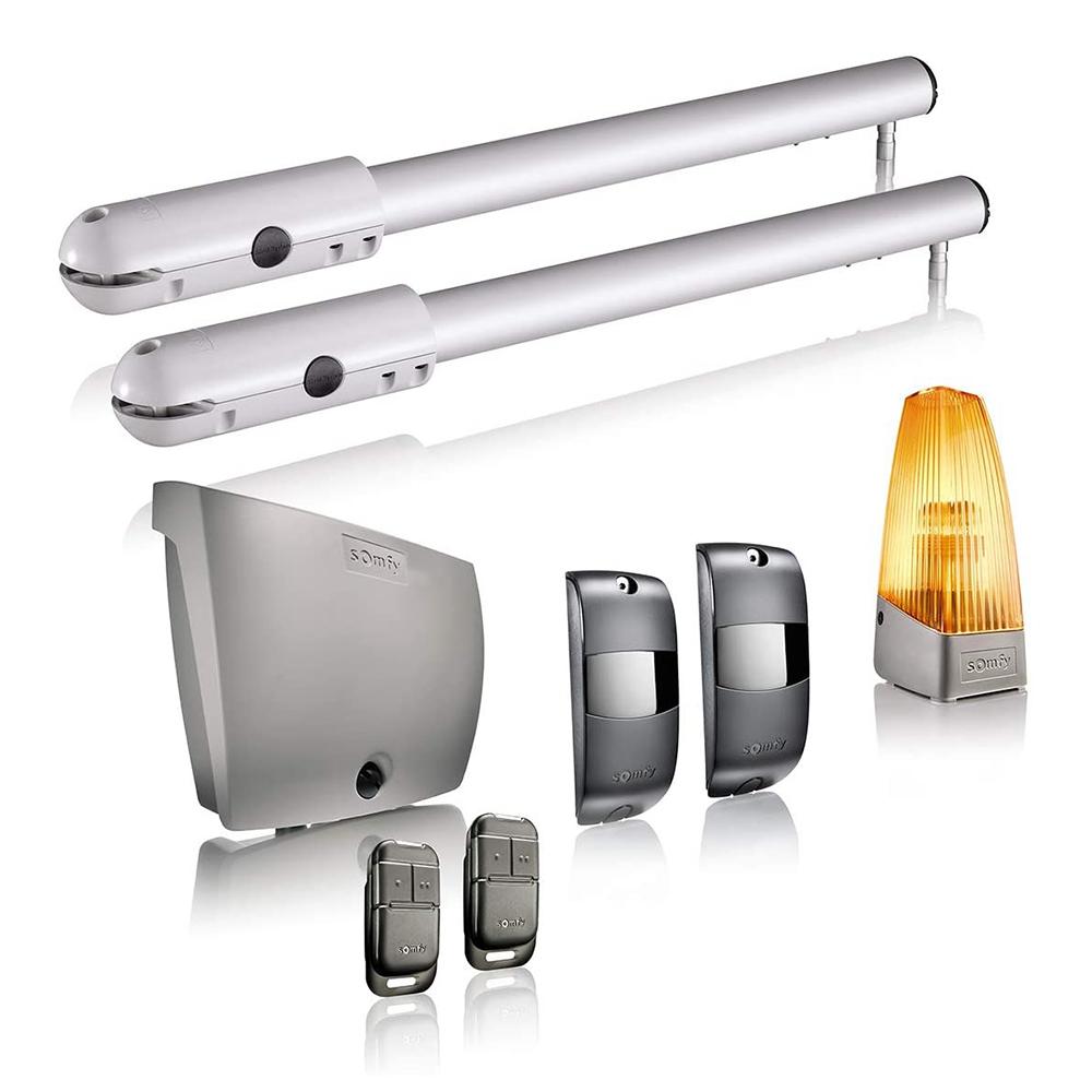 Kit automatizare poarta batanta Somfy SGS Essential, Include lampa de semnalizare, motor, fotocelule si telecomenzi imagine case-smart.ro 2021