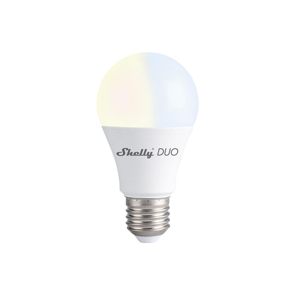 Bec LED inteligent Shelly Duo, Wi-Fi, E27, 9W, Temperatura culoare 800 LM imagine case-smart.ro 2021