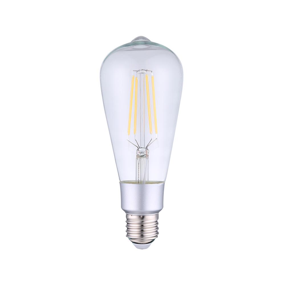Bec inteligent Shelly Vintage ST64, Dimmer, Wi-Fi, Control aplicatie, E27, 7W, 750 LM imagine case-smart.ro 2021