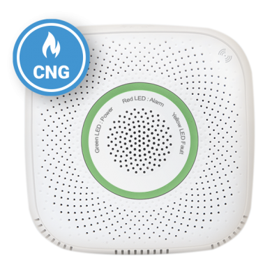 Senzor detector de gaz natural comprimat Shelly Gas CNG, Wireless, Alarma 70 dB, Notificari aplicatie