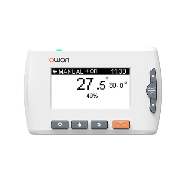 Termostat inteligent Owon pentru centrala termica, LCD 3.0″, Control aplicatie, Baterie 500 mAh imagine case-smart.ro 2021