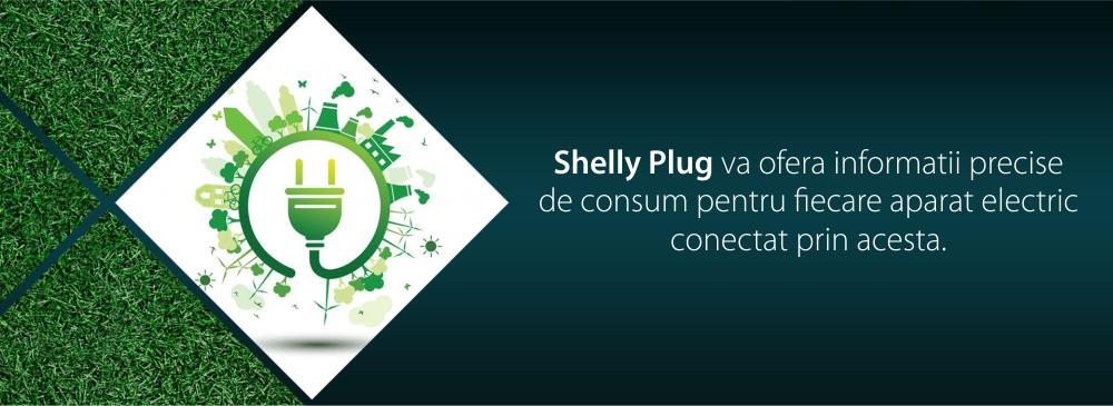 Priza inteligenta Shelly Plug, 16 A, Pana la 3500 W, Masurarea puterii, Control aplicatie