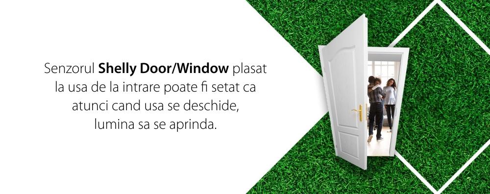 Senzor pentru usa / fereastra Shelly Door Window 2, Conectare Wi-Fi, Senzor lumina