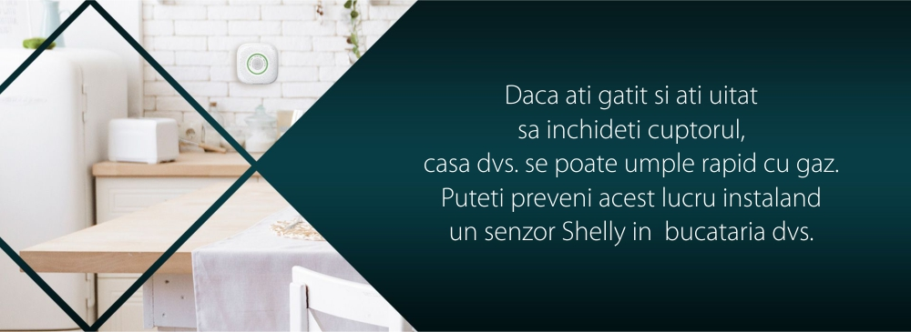 Senzor detector de gaz petrolier lichefiat Shelly Gas LPG, Wireless, Alarma 70 dB, Notificari aplicatie