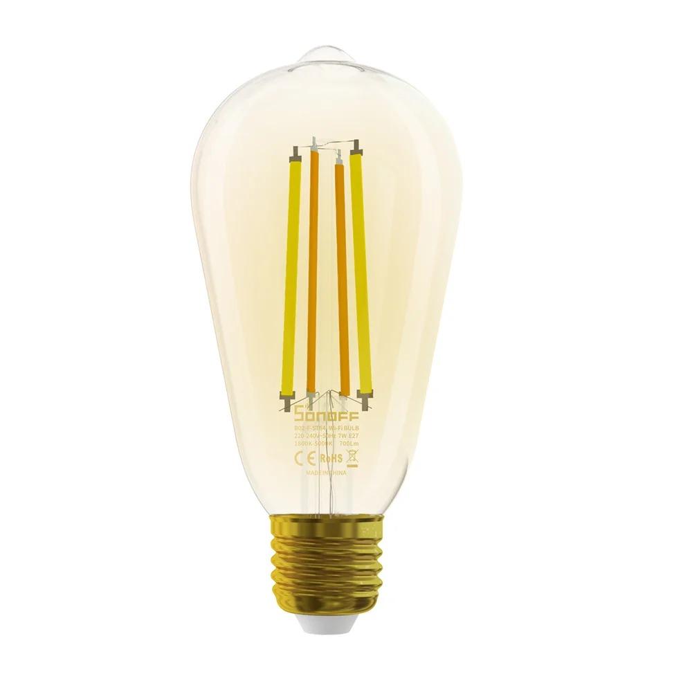 Bec inteligent LED Sonoff B02-F-ST64, Wi-Fi, 7W, 700 LM, Dimmer, Control aplicatie imagine case-smart.ro 2021
