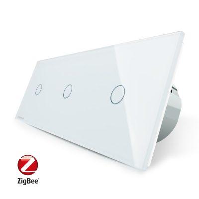 Intrerupator triplu cu touch Livolo din sticla, Protocol ZigBee, Control de pe telefonul mobil