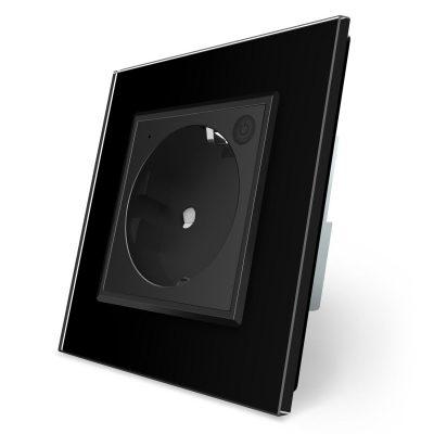 Priza inteligenta pentru perete Livolo ZigBee, Alba, 16A, Wi-Fi, Compatibil cu Alexa si Google Home culoare neagra