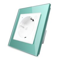 Priza inteligenta pentru perete Livolo ZigBee, Alba, 16A, Wi-Fi, Compatibil cu Alexa si Google Home culoare verde