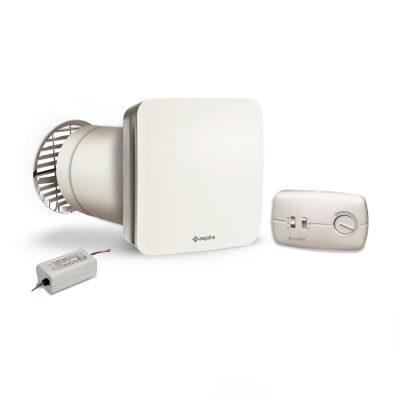 Unitate Aspira EcoComfort 160, Ventilatie cu recuperare de caldura, 2 Trepte de viteza, Acoperire 50 mp