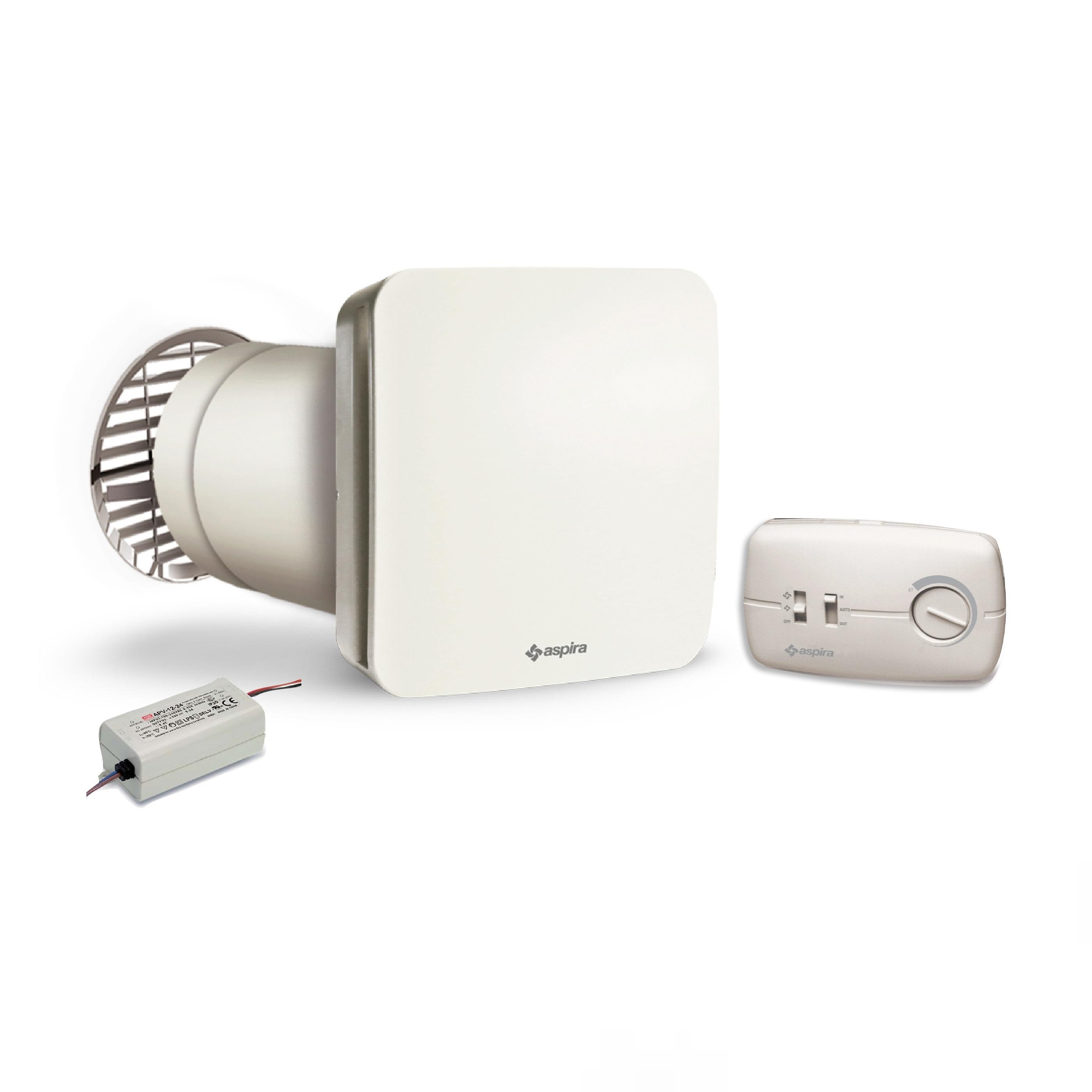 Unitate Aspira EcoComfort 160, Ventilatie cu recuperare de caldura, 2 Trepte de viteza, Acoperire 50 mp imagine case-smart.ro 2021
