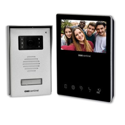 Interfon video cu fir SCS Sentinel VisioKit 4.3 Display tactil color 4.3 inch, Vedere nocturna, 10 Melodii