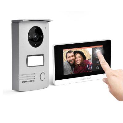 Videointerfon cu fir SCS Sentinel VISIODOOR 4.3+, Ecran tactil de 4.3 inch, Monitorizare video cu unghi de 120°