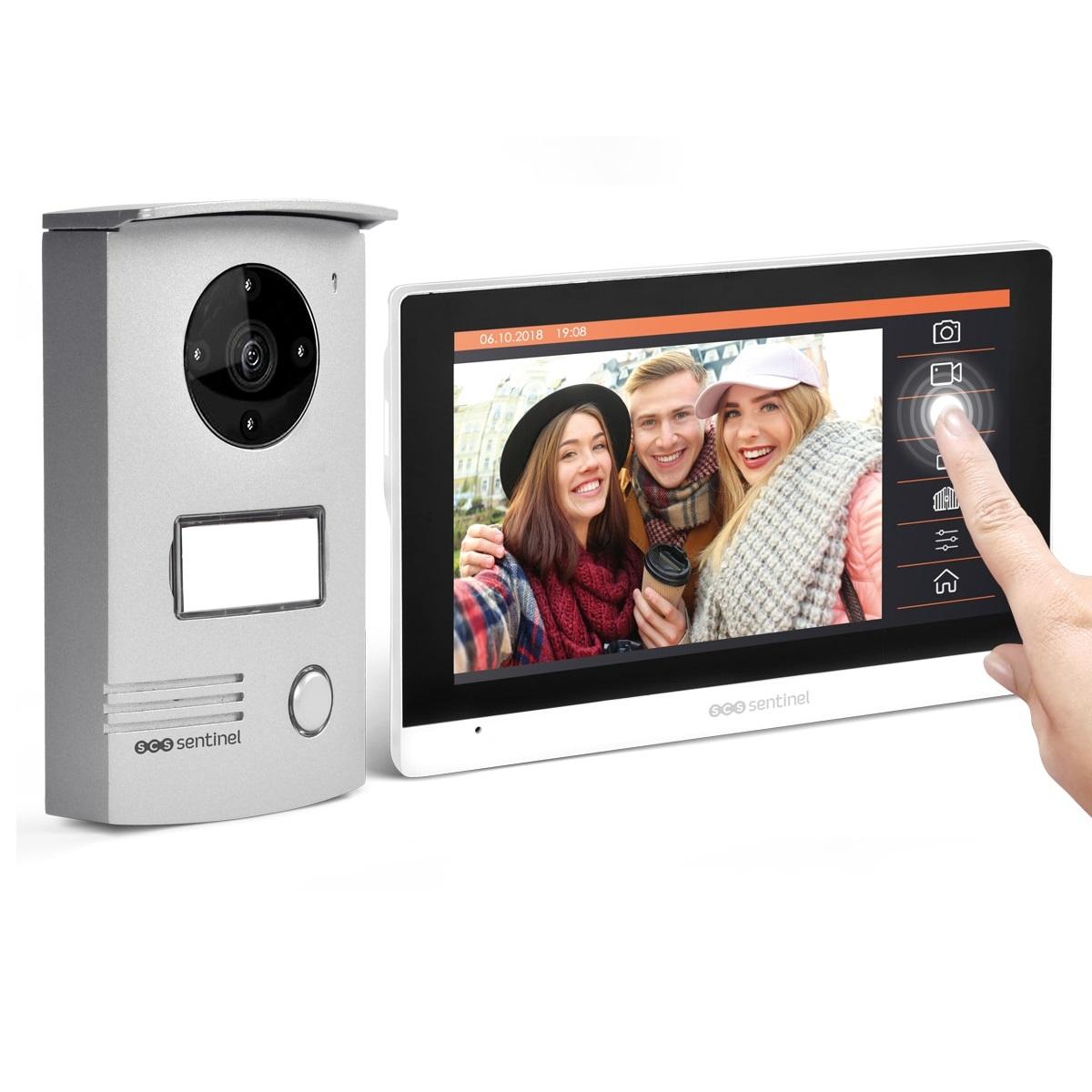 Interfon video cu fir SCS Sentinel VISIODOOR 7+, Ecran tactil de 7 inch, Monitorizare video cu unghi de 120° imagine case-smart.ro 2021