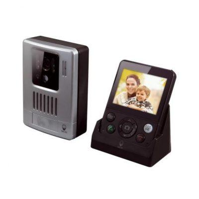 Interfon video wireless SCS Sentinel WDP-200, Ecran 3.5 inch, Detectie miscare, Captura foto, Distanta transmisie 200 m