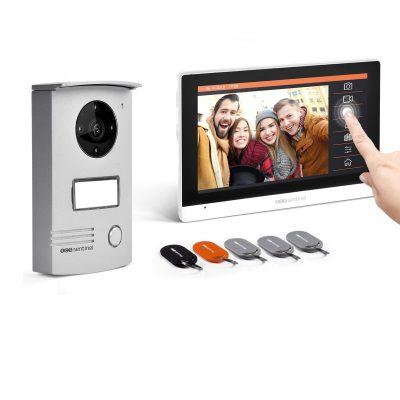 Interfon video cu fir SCS Sentinel VisioKit 7, 5 Ecusoane RFID, Monitorizare si acces din interior / exterior