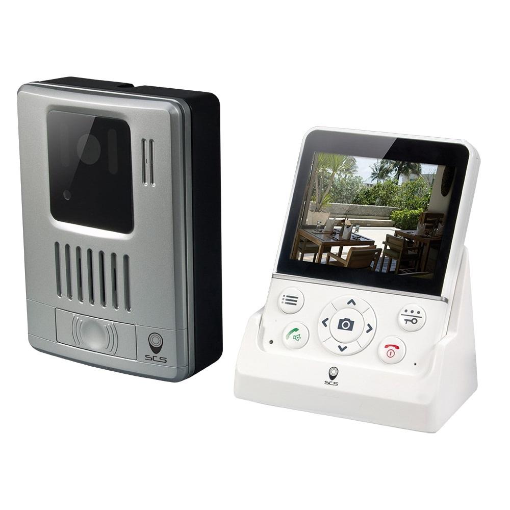 Interfon video wireless SCS Sentinel WDP-100, Ecran 3.5 inch, Distanta transmisie 100 m, Captura foto imagine case-smart.ro 2021
