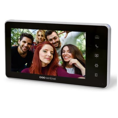 Monitor suplimentar pentru interfon SCS Sentinel VisioKit 7, Display 7 inch TFT LCD, 10 Melodii
