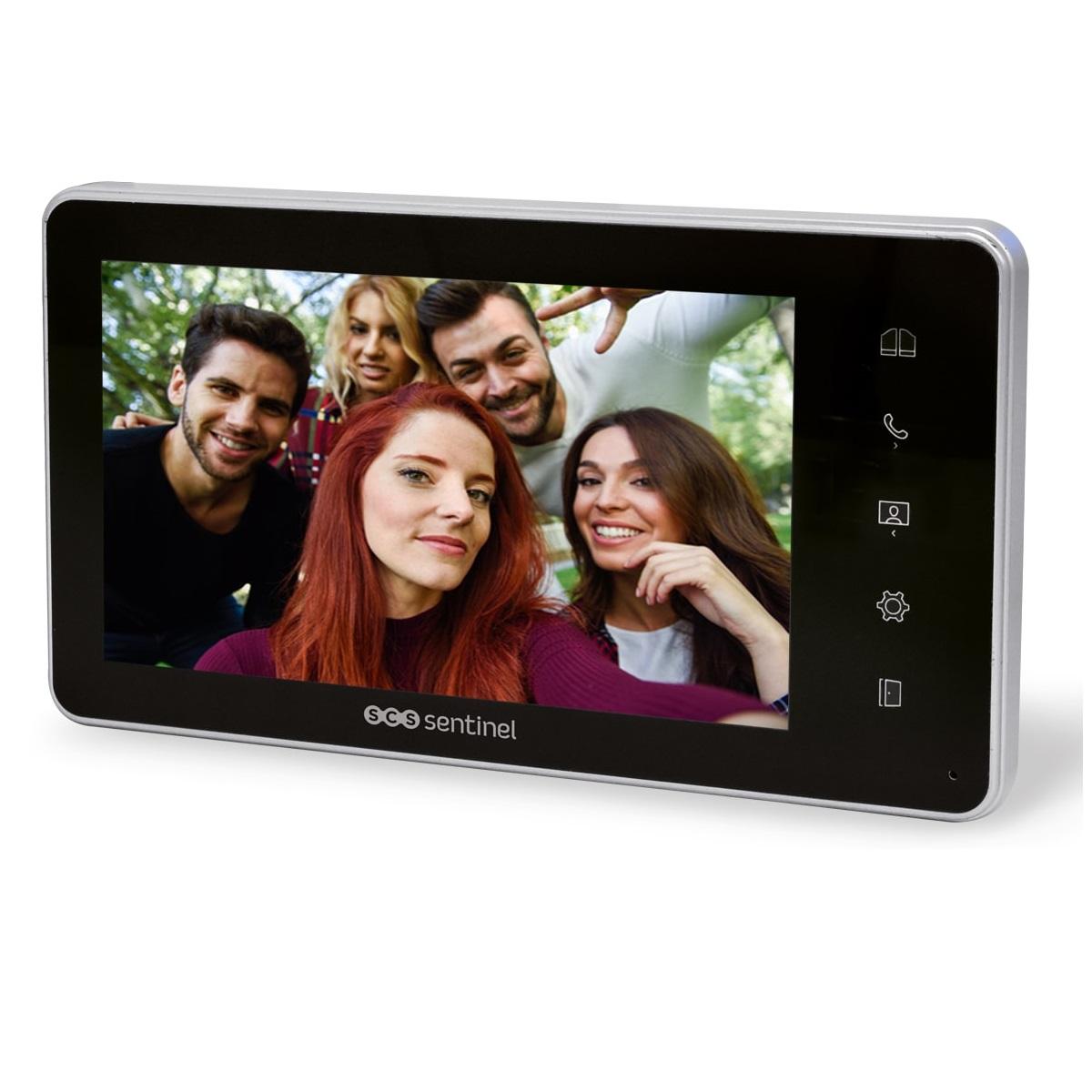 Monitor suplimentar pentru interfon SCS Sentinel VisioKit 7, Display 7 inch TFT LCD, 10 Melodii imagine case-smart.ro 2021