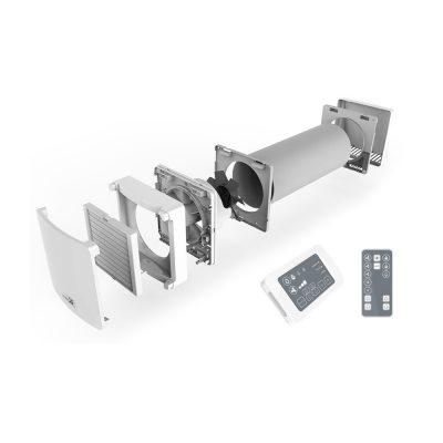 Unitate de ventilatie cu recuperare de caldura NovingAIR 150, Wireless, 5 Trepte de viteza, Debit maxim 60 mc / h