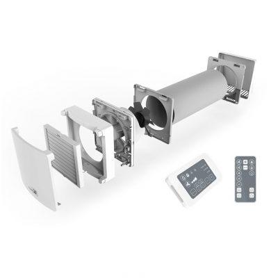 Unitate ventilatie cu recuperare de caldura, NovingAIR Active 150, 3 Trepte de viteza, Senzor de umiditate, Functionare silentioasa