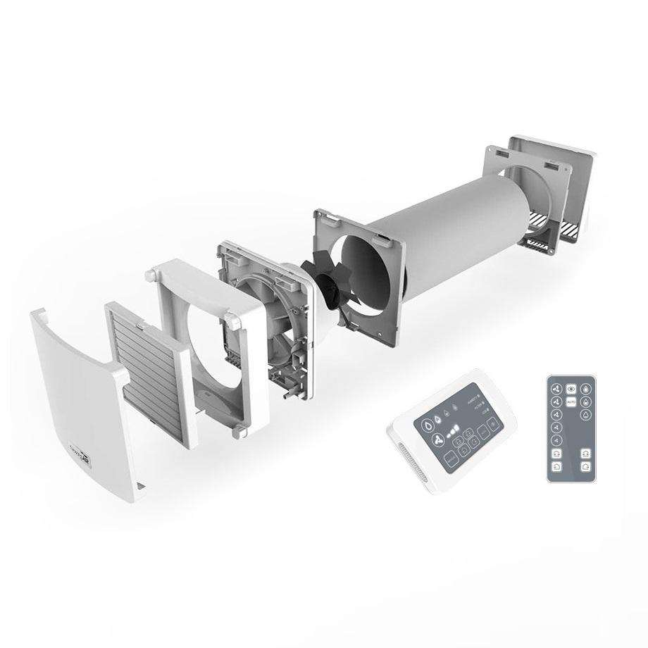 Unitate ventilatie cu recuperare de caldura NovingAIR Active 150 RF, Debit maxim 60 mc / h, 3 Trepte de viteza, Senzor umiditate imagine case-smart.ro 2021