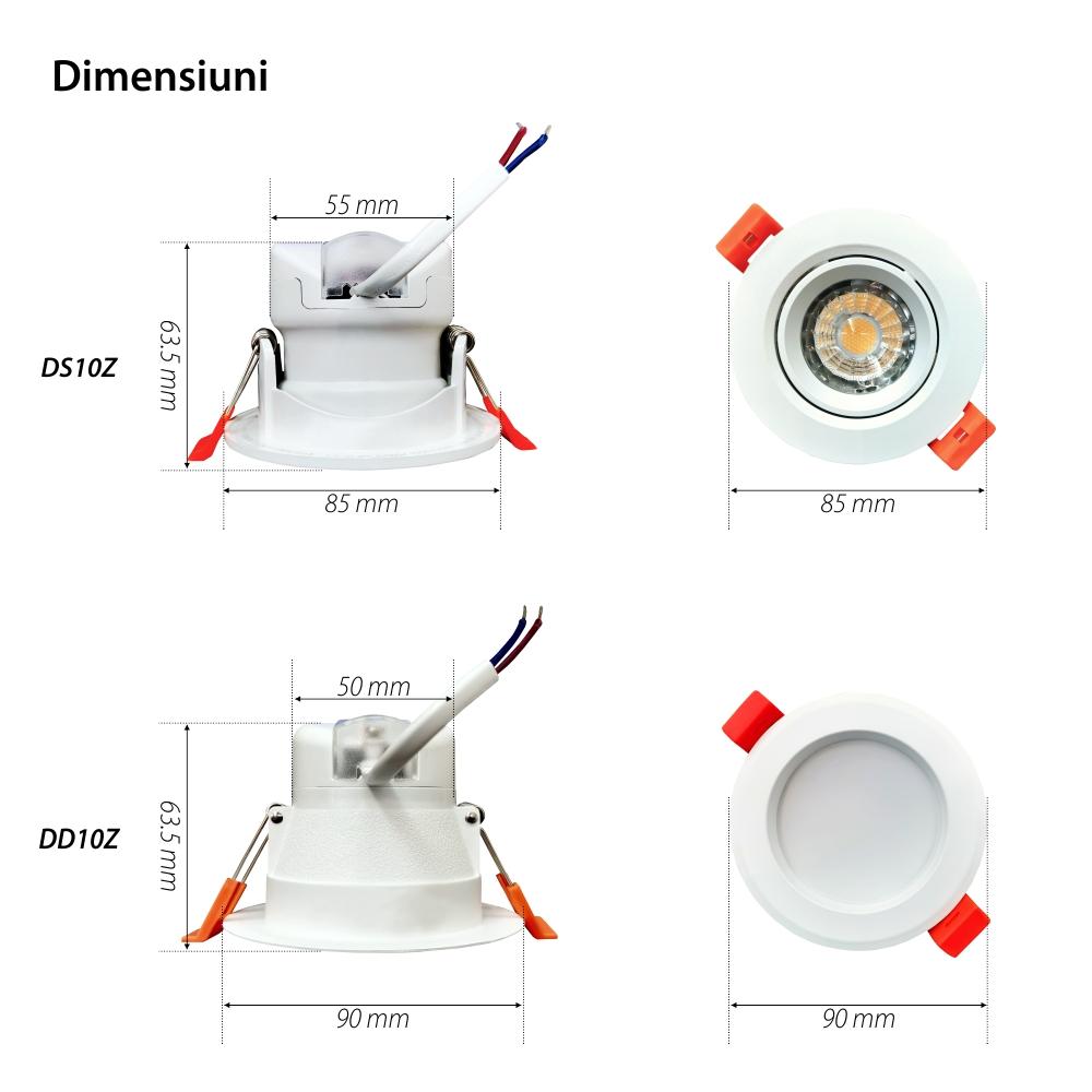 Spot cu LED Orvibo DS10Z, 6W, Protocol ZigBee, 450 LM, Programari, Lumina ajustabila