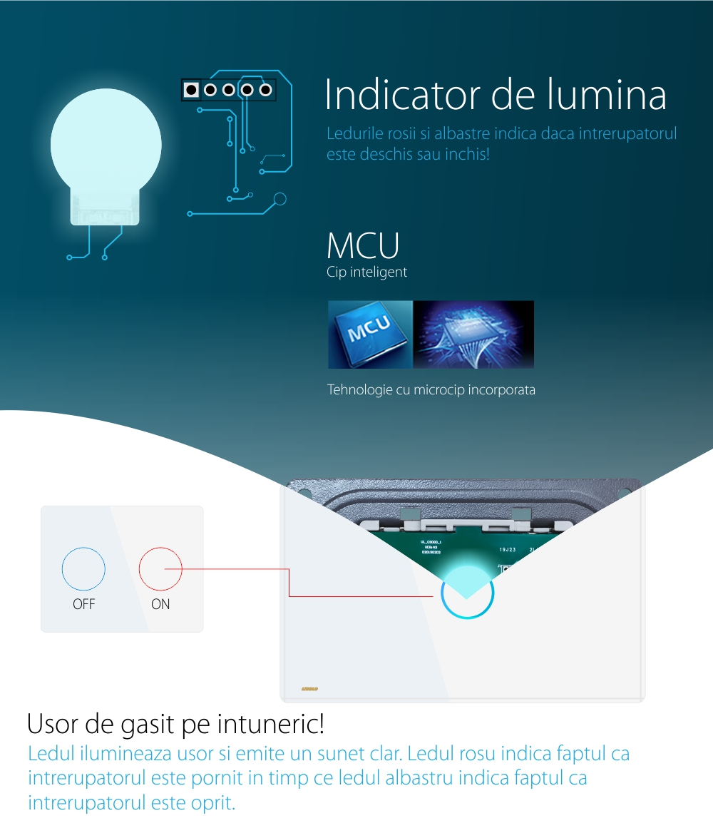 Modul intrerupator simplu cu variator si touch LIVOLO, Protocol ZigBee
