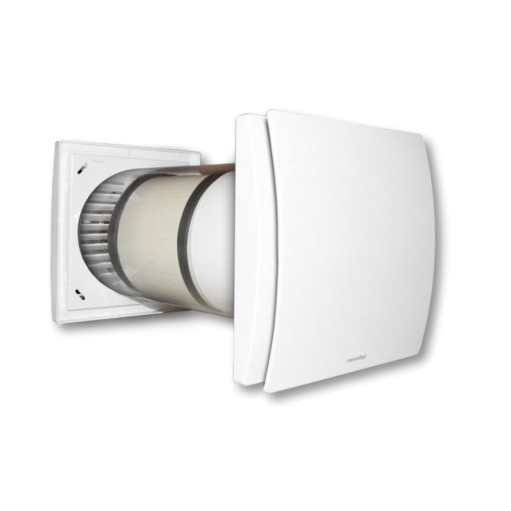 Recuperator de caldura Aerauliqa Quantum HR 150, Diametru 150 mm, Consum 3.8 W, Randament 90 % imagine case-smart.ro 2021