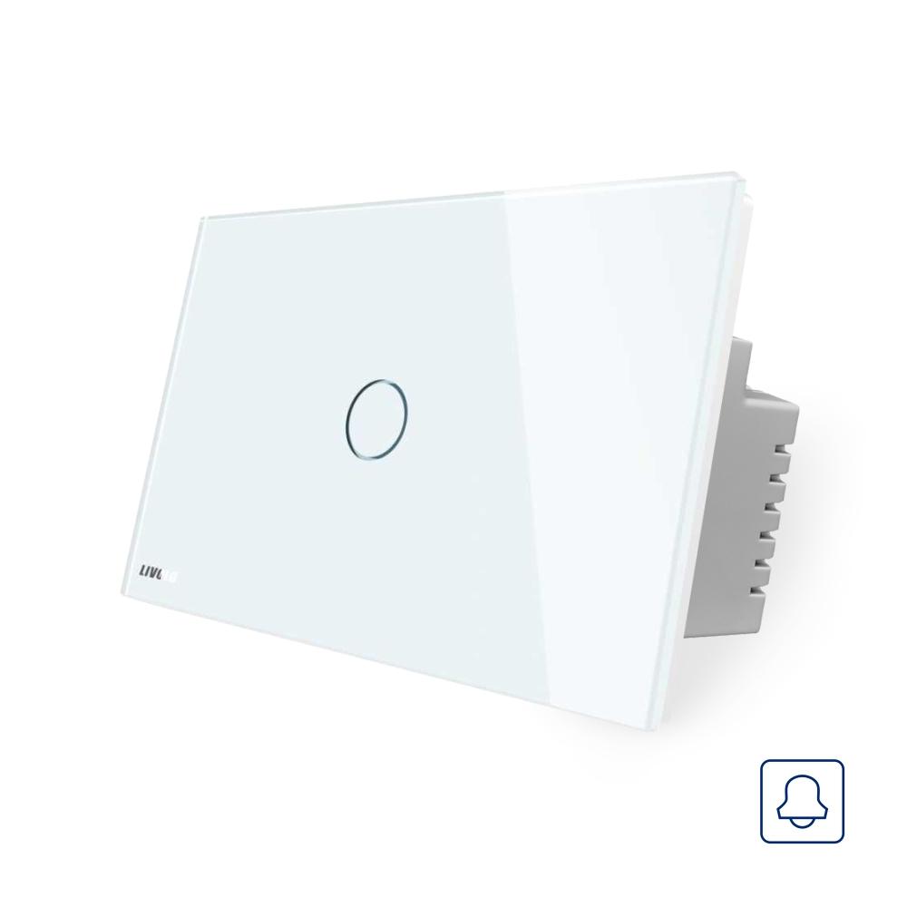Buton sonerie cu touch Livolo din sticla, Standard italian imagine case-smart.ro 2021
