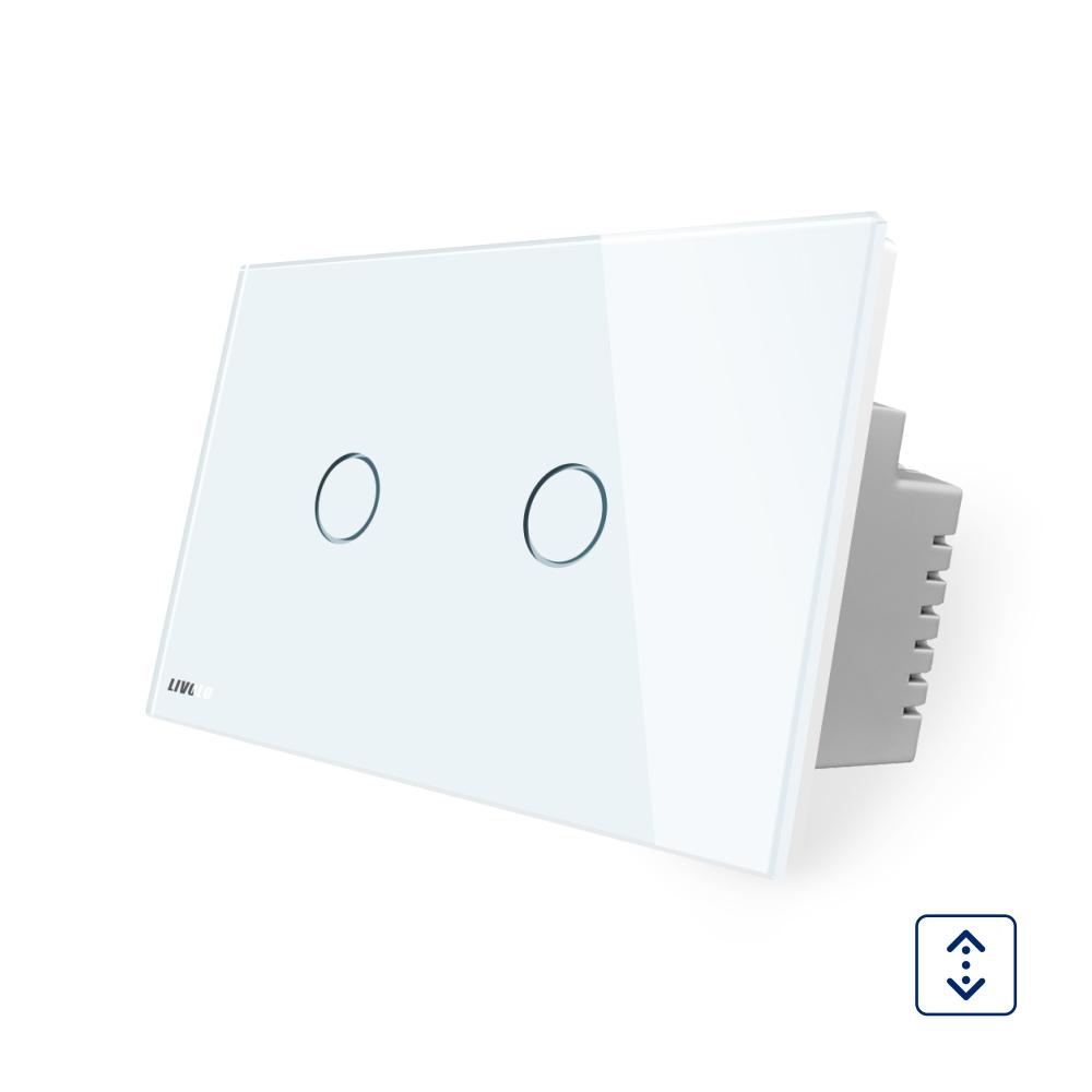 Intrerupator cu touch pentru draperie Livolo din sticla, Standard italian imagine case-smart.ro 2021