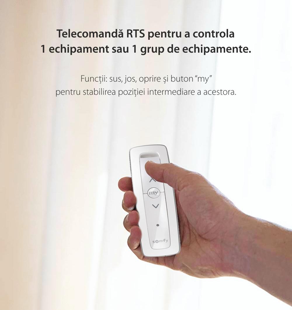 Telecomanda Somfy Situo 1 RTS Pure II EE, Pentru control echipamente si grupuri