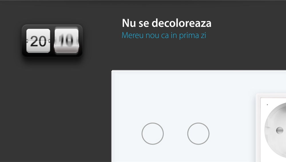 Intrerupator dublu cap scara / cap cruce, ZigBee + priza simpla Livolo ZigBee, rama din sticla, Control de pe telefon