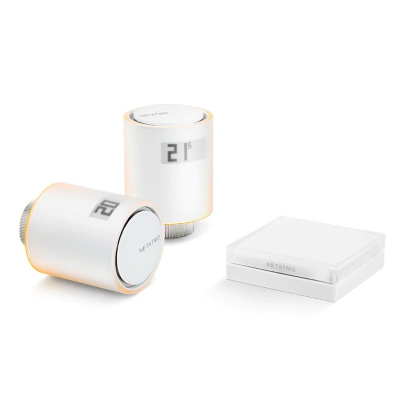 Kit Netatmo Starter Pack cu 2 Capete termostat si 1 Releu, Control aplicatie, Programare imagine case-smart.ro 2021