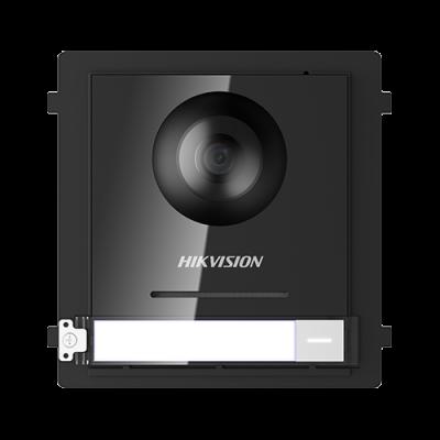 Modul master pentru interfonie modulara HIKVISION DS-KD8003-IME1, Camera FishEye 2MP, Buton apel, Buton acces