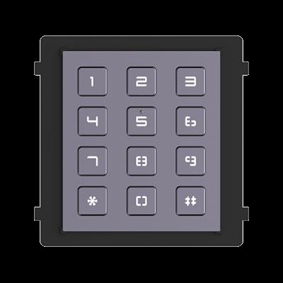 Modul tastatura HikVision DS-KD-KP, Pentru interfon modular, 12 Taste iluminate, Embedded Linux