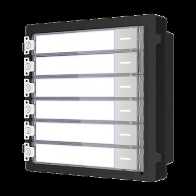 Modul extensie pentru interfon modular HIKVISION DS-KD-KK, Afisaj 6 familii, 6 Butoane acces, Consum 2W