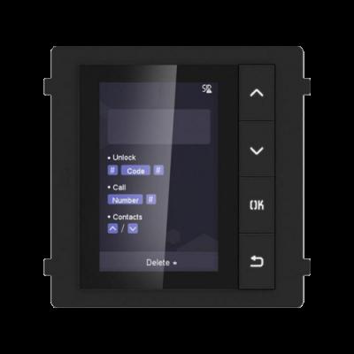Modul afisaj LCD TFT HikVision DS-KD-DIS, Pentru interfon modular, 4 Butoane, Afisaj digital
