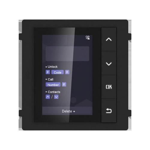 Modul afisaj LCD TFT HikVision DS-KD-DIS, Pentru interfon modular, 4 Butoane, Afisaj digital imagine case-smart.ro 2021