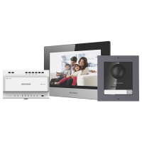 Kit videointerfon IP HIKVISION DS-KIS702, Display 7 inch, Consum 6W, Unghi vizibilitate de 180°
