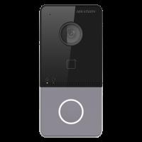 Panou exterior videointerfon HikVision DS-KV6113-WPE1, Control acces, Rezolutie 1080P, Unghi vizualizare de 129°
