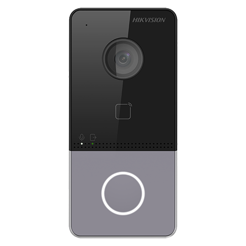Panou exterior videointerfon HikVision DS-KV6113-WPE1, Control acces, Rezolutie 1080P, Unghi vizualizare de 129° imagine case-smart.ro 2021